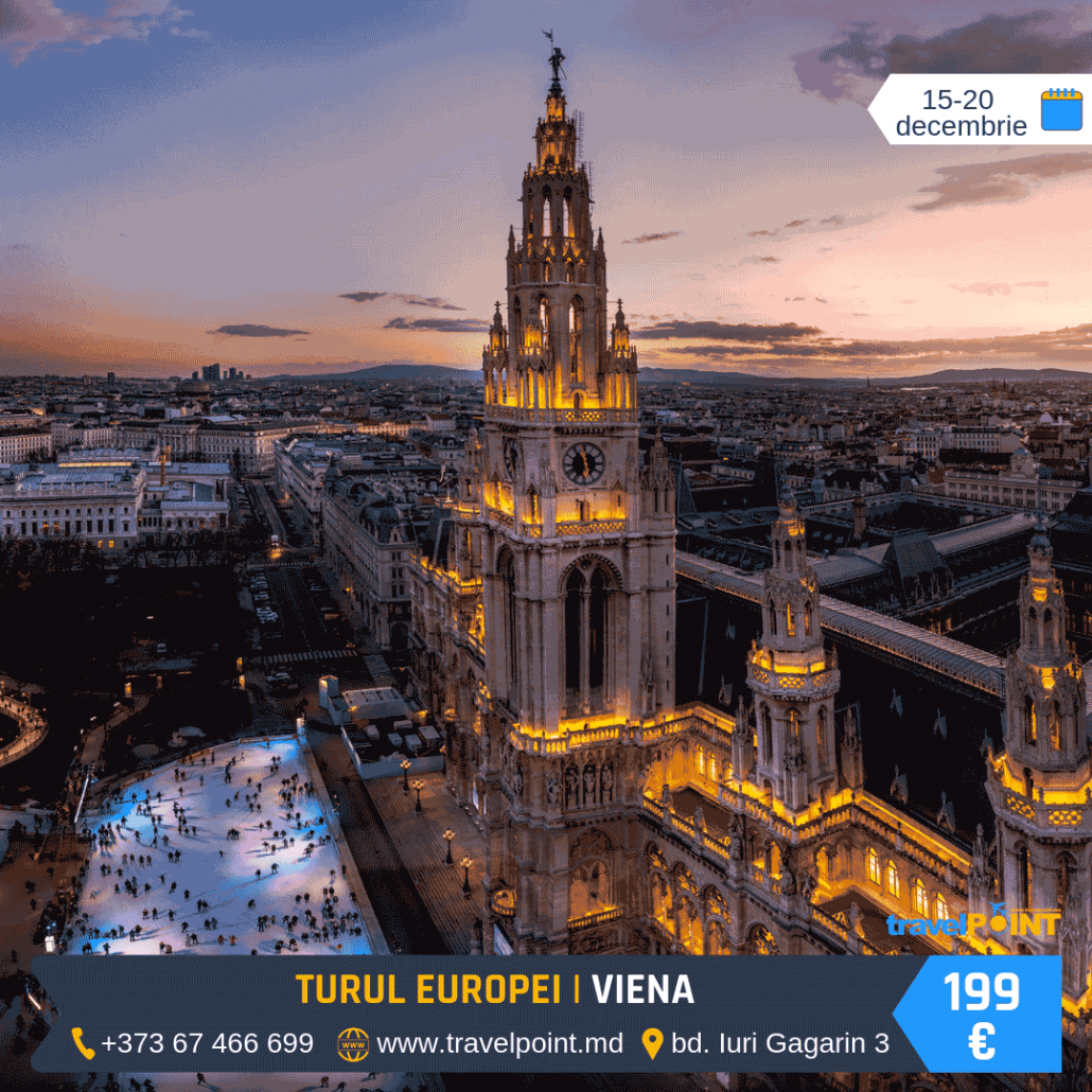 Magia sărbătorilor de iarnă în Turul Budapesta – Viena – Praga
